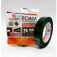 Double Side Foam Tape Busa Spon Nachi 24 mm / 1 Inch x 5 meter Hijau
