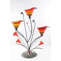 TULIP CANDLE CANDLE HOLDER 3 PCS LILY RED SOUVENIR TEMPAT LILIN