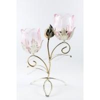 Tulip Candle Tempat Lilin Dekor Candle Holder 2 lilin - Rose 2 Salem