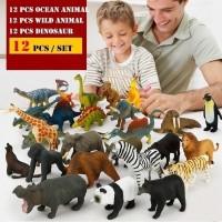 12 pcs Simulate Animal Toy Kids Ocean Animals Dinosaur Toys set (3