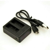 Battery Charger Dual for Camera Action - Kogan - Brica - Bcare etc -