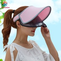 Women Summer Sun Protective Hats Double Layer Transparent Empty Top