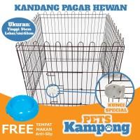 Kandang pagar kelinci kucing anjing 1 set 4 sisi murah