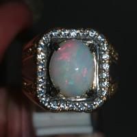 Batu Cincin Kalimaya Susu Opal Asli Kode 1845