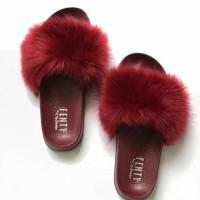PROMO!! Sandal Slop Bulu Fenty