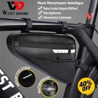 Tas Sepeda Segitiga West Biking Tas Sepeda 3L Waterproof + Reflective