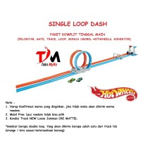 Hotwheels track Single Loop Dash ori Mattel Hot Wheels track komplit