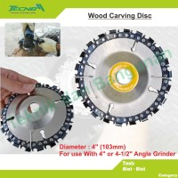 """Wood Carving Disc 4"""""""