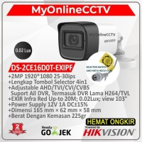 Kamera DS-2CE16D0T-IPF Hikvision DS-2CE16DOT-IPF CCTV Outdoor 2MP 4in1