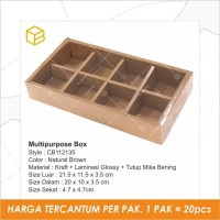 Cake Box / Dus Kue Tart Pie / Mochi Packaging Sekat Mika - CB112135