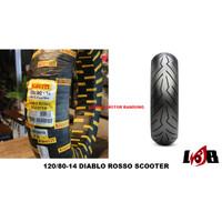 Pirelli 120/80-14 Diablo Rosso Scooter Front Ban Tubeless Depan Aerox