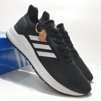 Sepatu Sneakers Adidas Solar Blaze Black White Premium