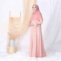 Gamis Zelvia Dress by Amima - Gamis Polos Murah