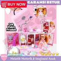 E34 Mainan Anak Perempuan Rumah Rumahan Boneka Barbie Mainan Anak