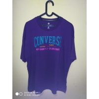 Kaos Converse Authentic Con Tee Casual T Shirt Purple Original