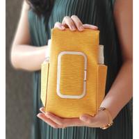 TECHNOZIO Tempat Tissue Pouch 5 In 1 Urat Kuning / Sarung Tisu