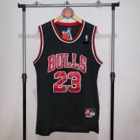 Jersey Basket Swingman NBA Chicago Bulls Michael Jordan hitam black