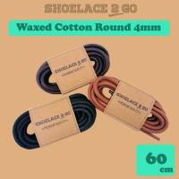 Shoelace 2 Go WR4 60cm [4mm] Tali Sepatu Bulat Lilin / Waxed Round
