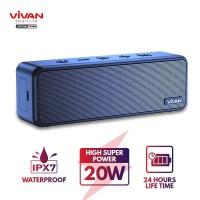 VIVAN VS20 Speaker Bluetooth 5.0 Waterproof IPX7 20W MicroSD AUX TWS