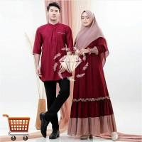 Couple Alviane 3in1 Couple Gamis Muslim