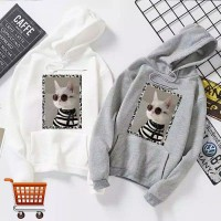 Outer Kucing Hoodie Outer Sweater Anak Remaja