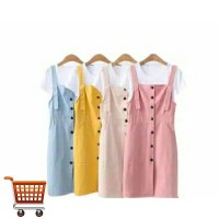 Overall Button Dress Anak Remaja