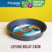 Loyang Kue Bolu - Loyang Nampan Oven Pan 24cm Bulat Teflon Big J