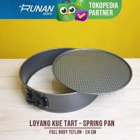 Loyang Kue Tart Cetakan Pegas Spring Pan Teflon Anti Lengket 24cm BigJ