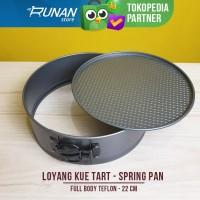 Loyang Kue Tart Cetakan Kue Bulat Pegas Spring Pan Teflon Anti Lengket