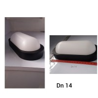 LAMPU DINDING OUTDOOR DN14 FANTAS W1708/10W-BK/3000K