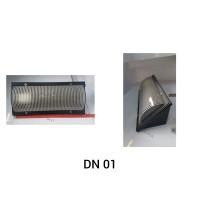 LAMPU DINDING OUTDOOR DN01 DM5015/LTG (AK14013) BLACK