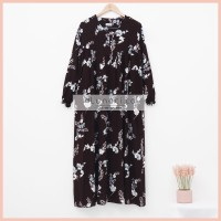 Lunaci Dark Choco Blossoms Night Gown