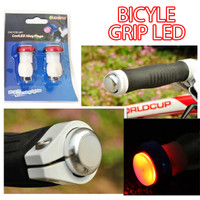Grip Sepeda Lampu Sen Led Bicycle Bike Handle Warning Safety lps003mt