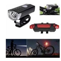 LED LIGHT Lampu Sepeda Set Depan Belakang Original lps001mt