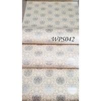 WALLPAPER STICKER / STIKER 45CMx5M WPS042 SILVER CIRCLE VECTOR