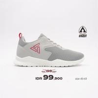 Aerostreet 40-43 Delta Abu Muda - Sepatu Sneakers Casual Sport Sekolah - 42