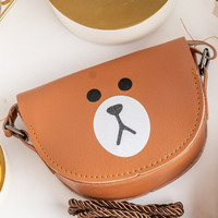 ARAMI Sling Character Line Brown Bags | Tas Selempang Anak Coin Pouch
