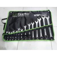 TEKIRO KUNCI RING PAS SET(8-32 MM) 14 PCS WR-SE0298
