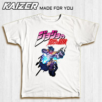 KAIZER RH-0734 Kaos Jojo's Bizarre Adventure Jotaro Kujo - Anime - S