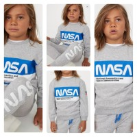LIMITED SET NASA H&M Kids Setelan sweatshirt jogger NASA Abu