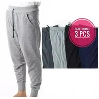 paket hemat 3 pcs celana jogger panjang standar