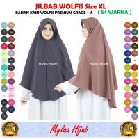 """Jilbab WOLFIS Wolpeach Wolfis size XL TANPA SERUT"""" pads antem murah"""