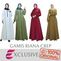 New Gamis Riana Crep & Latifa Strip / Gamis Muslim / Drees Polos - FOTO, M