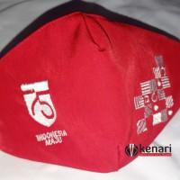 Masker Kemerdekaan 75 3 Lapis / Masker Merah Putih Bordir Komputer Kan