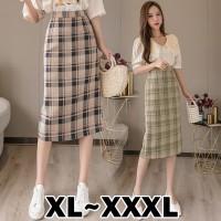 (#822 BIGSIZE XL/XXL/XXXL)Flanel Skirt/Midi Skirt/Rok Motif Kotak