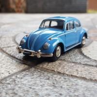 Diecast Schuco racer VW beetle 1960 blue sedan. NOS lengkap Germany