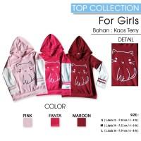 MINISALE - Sweater Hoodie MEOW Anak Perempuan/ Jaket Anak Perempuan