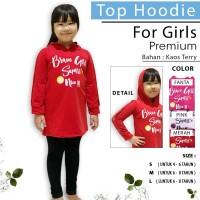MINISALE - Sweater Hoodie BRAVE Anak Perempuan/ Jaket Anak Perempuan - S, Pink