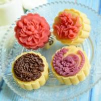 Cetakan kue bulan 50gr mooncake press 50 gram Flower 3 moon cake