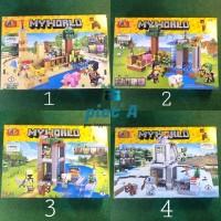 Mainan Edukatif Brick Block 2 in 1 minecraft ada 4 seri karakter lucu2
